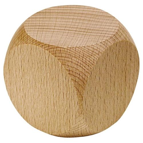 Blanco dobbelsteen uit hout - XL