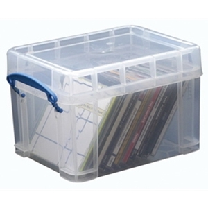 Opbergbox met deksel - Really Useful Box - Transparant - 3L