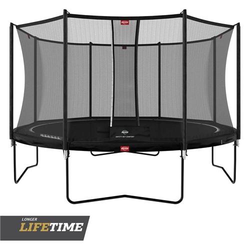 BERG Trampoline Favorit Regular 380 Black + Safety Net Comfort