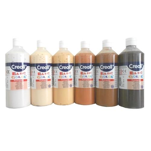 Verfset huidskleuren Creall - 6 flessen 500ml