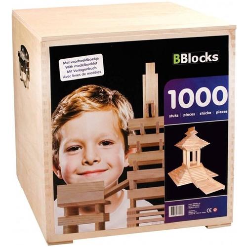 BBlocks houten bouwplankjes - 1000 stuks houten kist