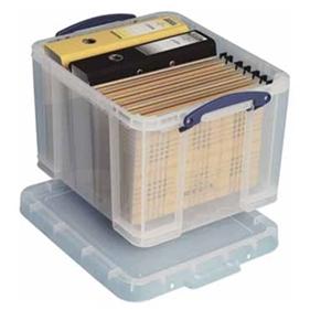Opbergbox met deksel - Really Useful Box - Transparant - 35L