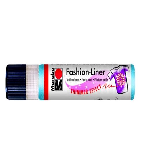 Textielpen Marabu glitter blauw