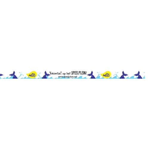 Festivalbandjes walvis - 100 stuks
