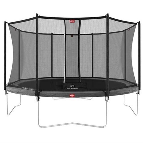 BERG Trampoline Favorit Regular 430 Grey + Safety Net Comfort