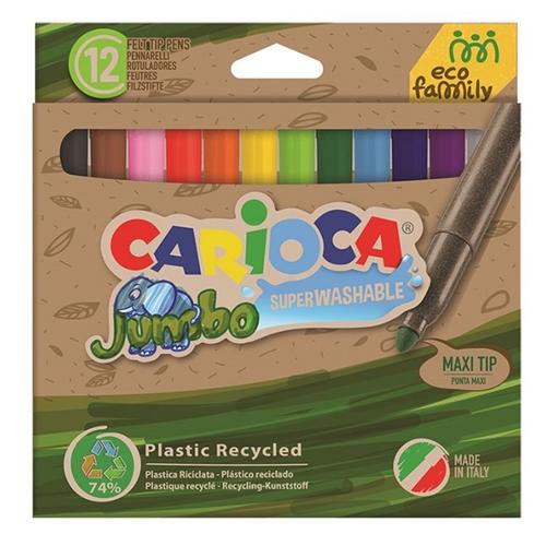 Kleurstiften dikke punt ECO - 12 stuks - Carioca Jumbo