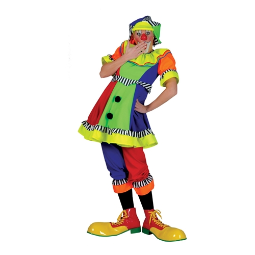 Clownskostuum dame